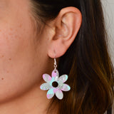 Recycled Acrylic Flower Power Dangle Earrings