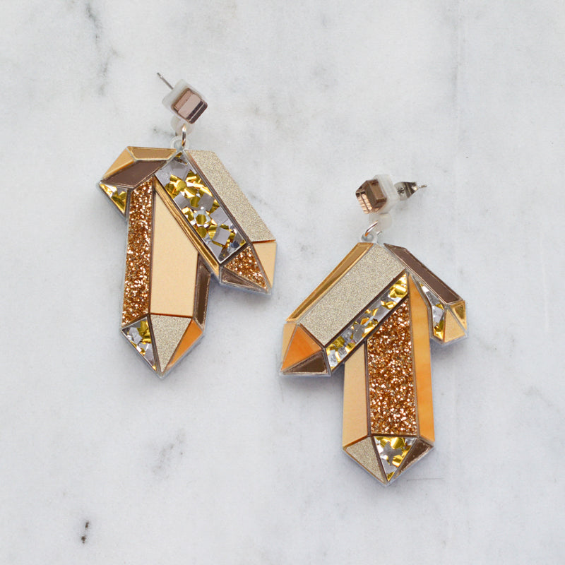 Faceted Crystal Earrings