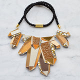 XL Faceted Crystal Statement Necklace