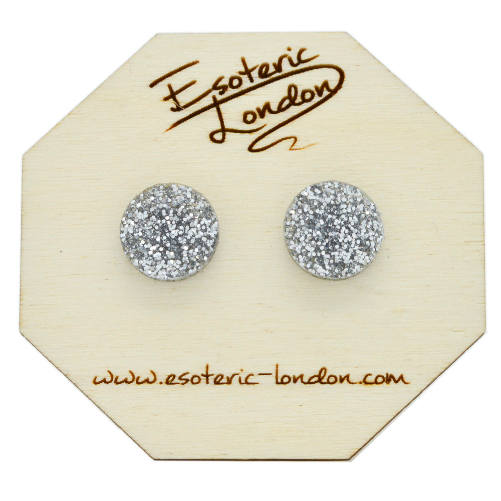 Large Glitter Dot Stud Earrings