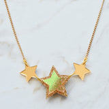 Iridescent & Glitter Star Princess Necklace