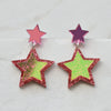 Iridescent & Glitter Star Earrings