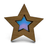 Iridescent Star Brooch