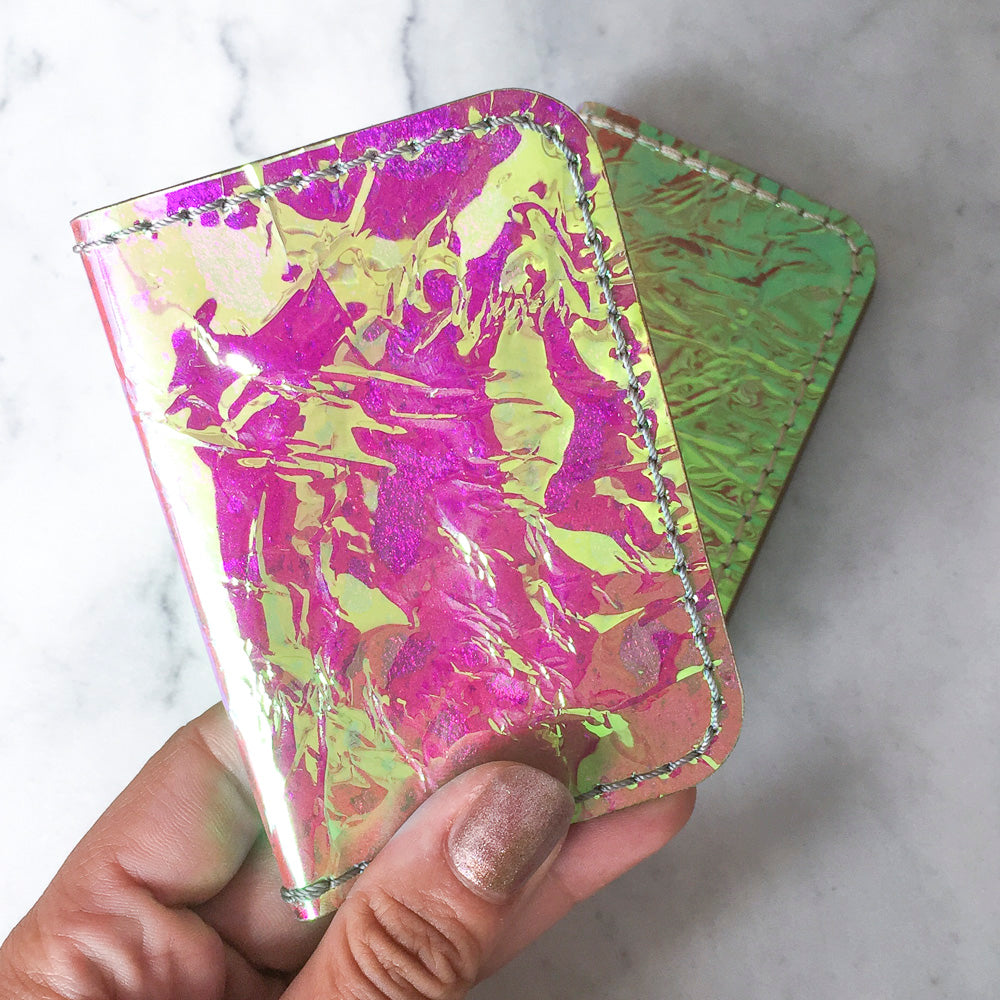 Iridescent Folding Wallet