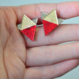 Sunburst Large Geometric Stud Earrings