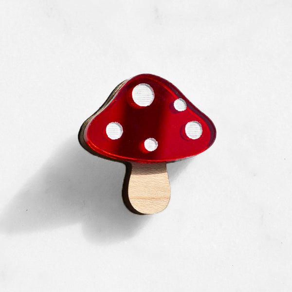 Toadstool Pin Brooch