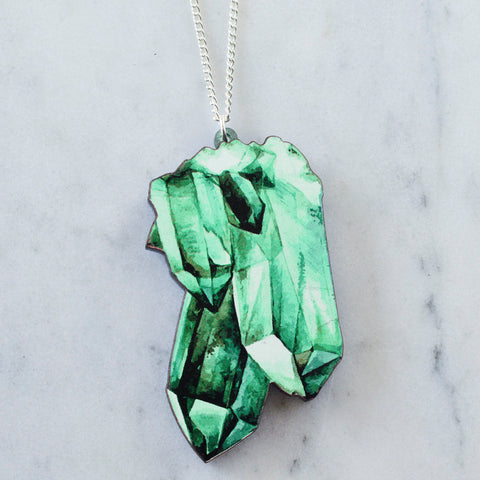 Recycled Acrylic Leaf/ Feather Necklace