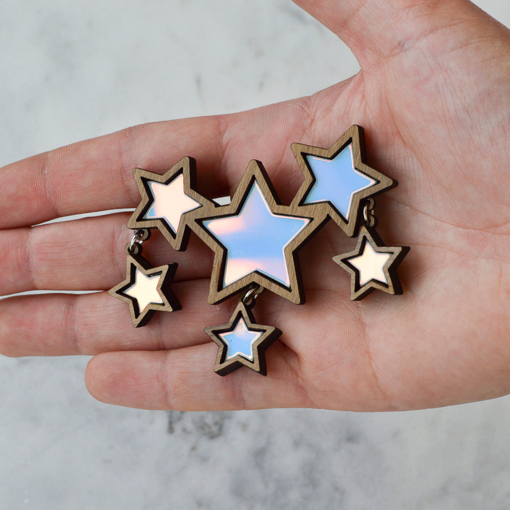 Iridescent Shooting Stars Brooch