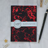 Red Foil Printed Galaxy Notebook