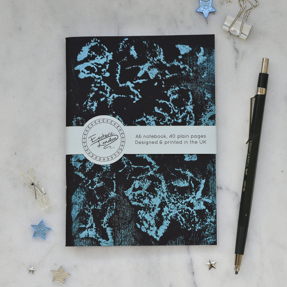 Blue Foil Printed Galaxy Notebook