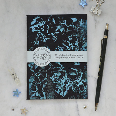 Gold Foil Printed Galaxy Notebook