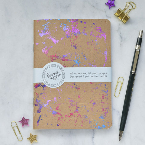 Pink Foil Printed Galaxy Notebook