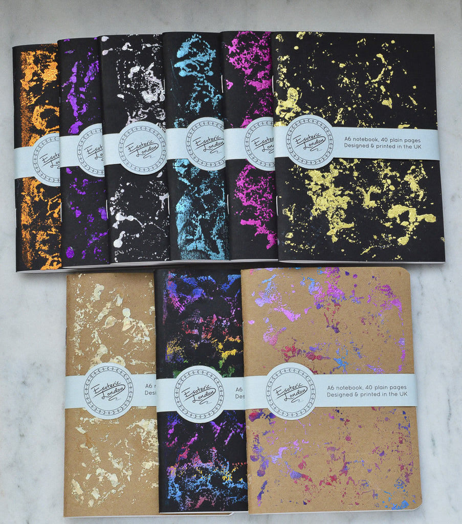 Silver Foil Printed Galaxy Notebook