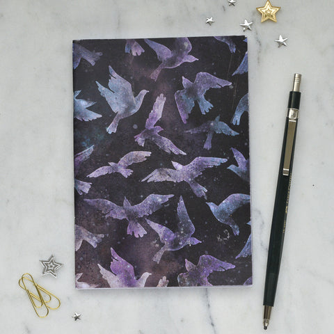 Purple Foil Printed Galaxy Notebook