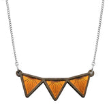 Sunburst Triangle Bib Necklace