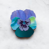Textured Pansy Brooches