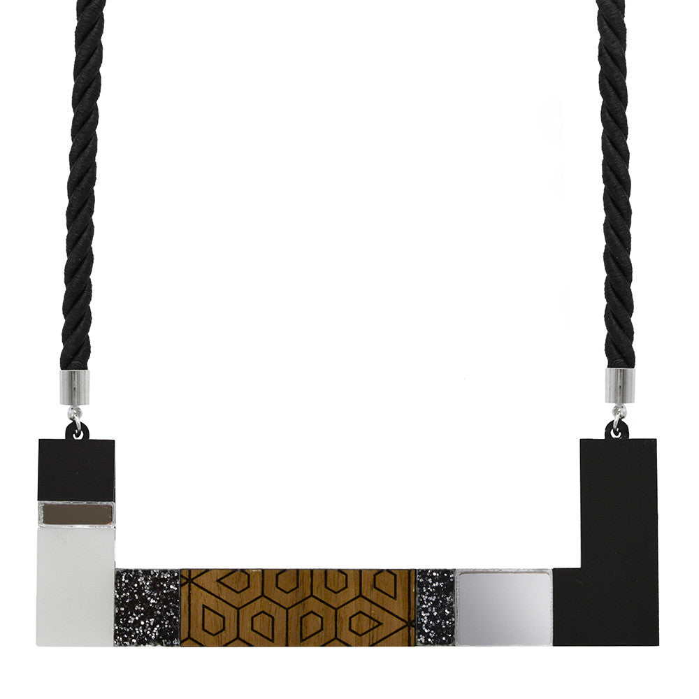 Rectangle Blocks Necklace
