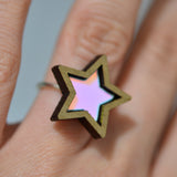 Iridescent Star Ring