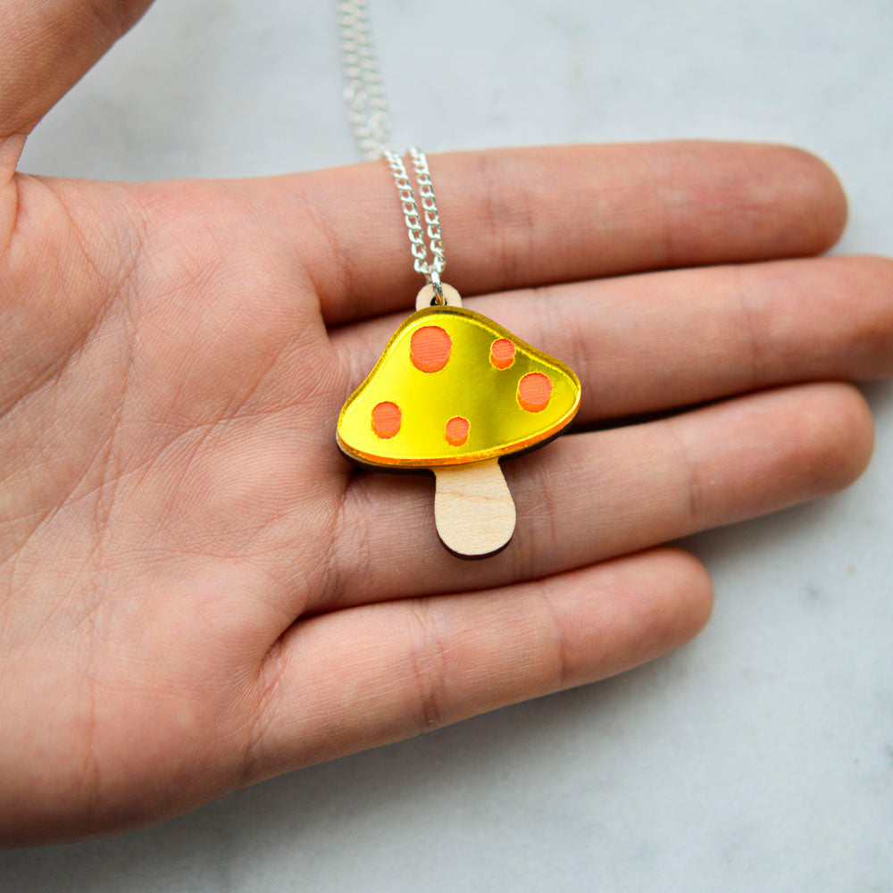Toadstool Necklaces