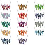 Recycled Acrylic Scribble Necklace Shape 2