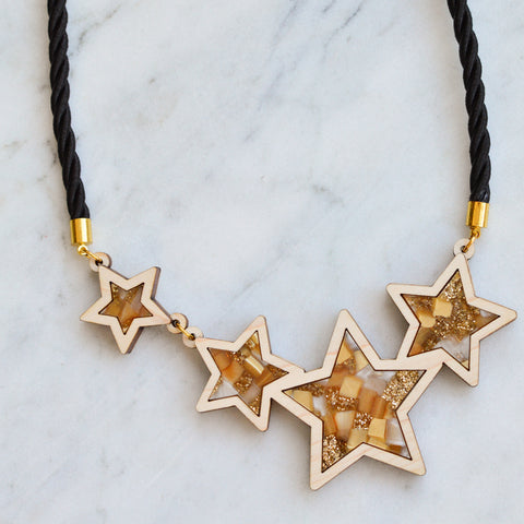 Recycled Acrylic Shooting Star Necklace