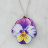 Watercolour Pansy Necklaces