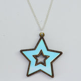 Iridescent Star Necklace