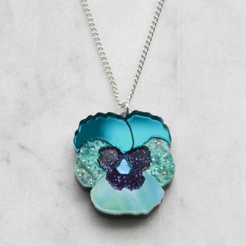 Mini Textured Pansy Necklaces