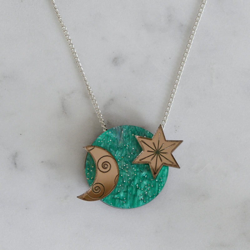 Star & Moon Dot Necklace