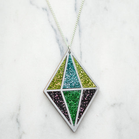 Watercolour Crystal Necklace
