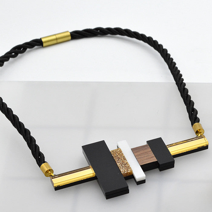Large Blocks Necklace