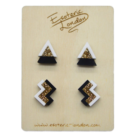 Geometric Sparkle & Shimmer Earrings Set