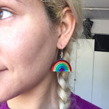 Rainbow Dangle Earrings