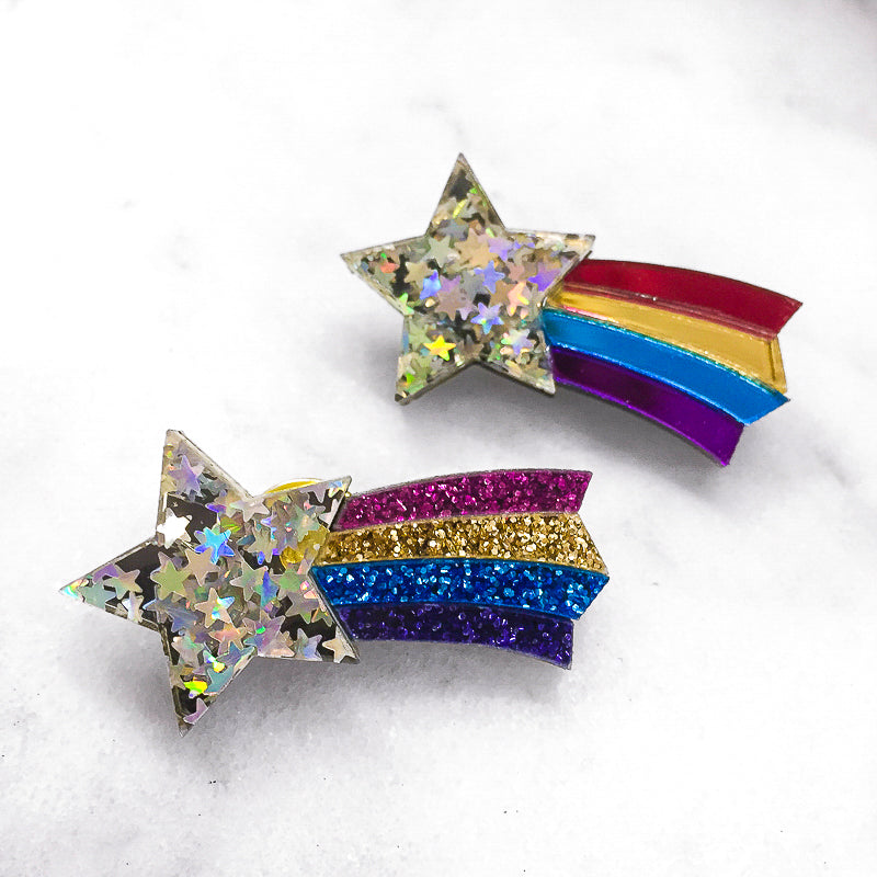 Star Rainbow Brooches/ Pins