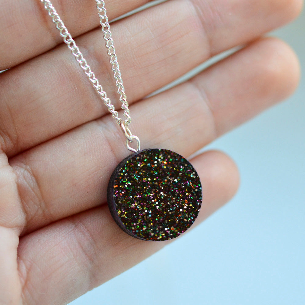Glitter Dot Necklaces