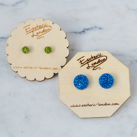 Glitter Dot Stud Earrings