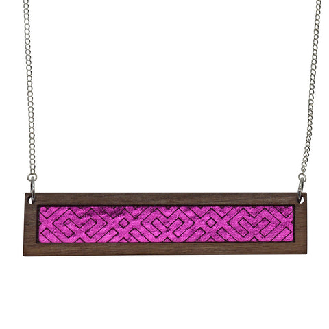 Colour Pop Bib Necklace - Tropical Orange & Hot Pink