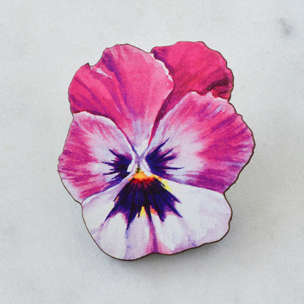 Watercolour Pansy Brooch