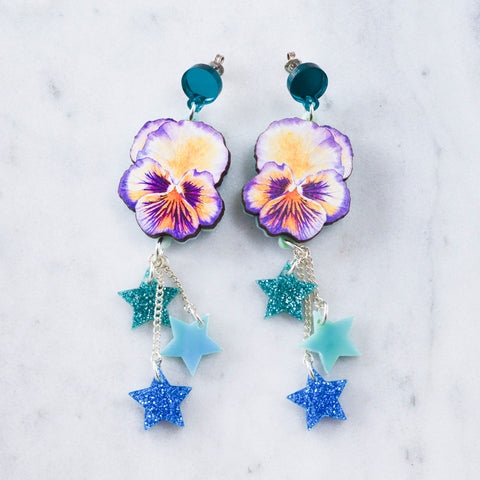Watercolour Crystal Earrings