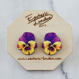 Watercolour Pansy Earrings