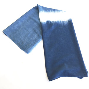 indigo natural dye hand made scarf sarong