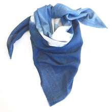 indigo hand made organic cotton scarf sarong