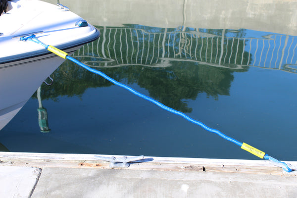 5' Bungee Dock Line - Blue - Stretches to 7' - Ideal for Boats, PWC, Jet Ski, Dinghy, Kayak & Pontoon up to 4000#