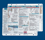 Waterproof Boating Quick Reference Cards Bundle - Navigation 125, Coastal Piloting 126 & Procedures 128 (3 Items)