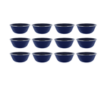 "6"" Enamel Camping Bowl - 12 Pack Metal Camping Bowl with Blue Enamel Finish - For Camping, Hiking & Picnics"