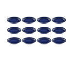 "10"" Enamel Camping Plates - 12 Pack Metal Camping Plates with Blue Enamel Finish - For Camping, Hiking & Picnics"