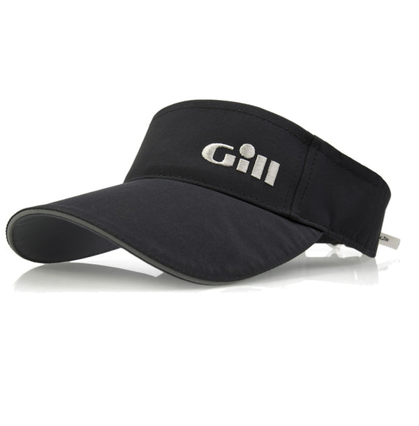 Gill Regatta Visor with 50+ UV Protection and Anti-Corrosion Clip - Black Color - One Size Fits All