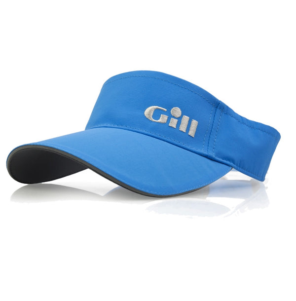 Gill Regatta Visor with 50+ UV Protection and Anti-Corrosion Clip - Bright Blue Color - One Size Fits All