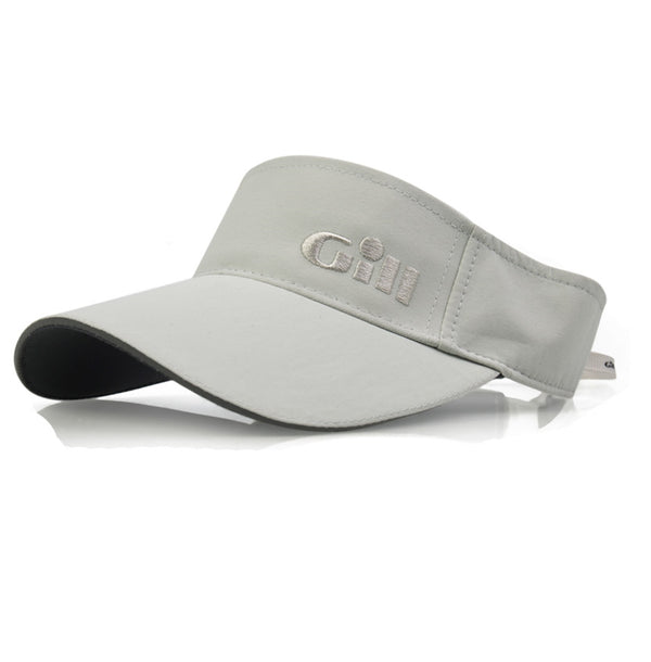 Gill Regatta Visor with 50+ UV Protection and Anti-Corrosion Clip - Silver Color - One Size Fits All