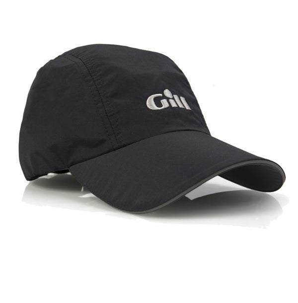 Gill Regatta Cap with 50+ UV Protection and Anti-Corrosion Clip - Black Color - One Size Fits All